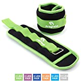Ankle Weights for Women, Men and Kids – Strength Training Wrist/Leg/Arm Weight Set with Adjustable Strap for Jogging, Gymnastics, Aerobics, Physical Therapy (from2lb to 10lbs Pair)