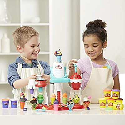 Play-Doh Kitchen Creations Ultimate Swirl Ice Cream Maker, Multi-Colour: Hasbro: Toys & Games