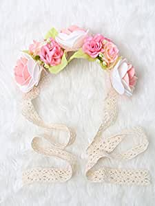 Festival Boho Hippy Hair Head Band/ Rose Crown/Bohemian style (Pink in Bloom)