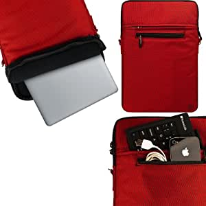"ASUS U31SD U33Jc & Zenbook UX31E 13"" Notebook Accessories VanGoddy Hydei Fire Red Padded Zippered Sleeve Carrying Case for ASUS U31SD U33Jc & Zenbook UX31E 13"" Notebooks"