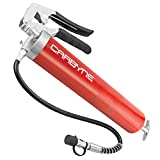 Carbyne Heavy Duty Professional Quality Pistol Grip Grease Gun, 4000 PSI. Includes 18 inch Flex Hose