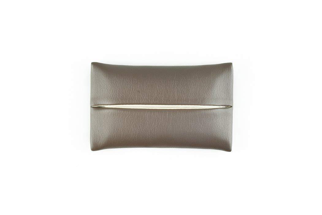 「Thing.Is」PU Leather Travel Tissue Holder, Pocket Tissue Cover, Travel Tissue Holder, Portable Tissue Case, Tissue Pouch, Dark Brown
