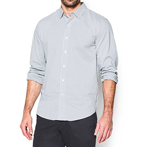 Under Armour Men's Performance Woven Shirt, Steel (035)/Steel, XX-Large by Under Armour (Image #4)
