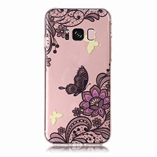 Galaxy S8 Funda Samsung Galaxy S8 Mariposas Caso,MingKun TPU Carcasa para Samsung Galaxy S8 Caso Shockproof Slim Funda TPU protección Caso