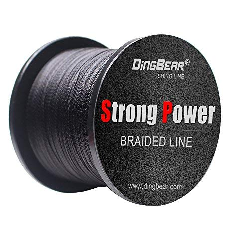 DINGBEAR 109Yd/100m 135LB/0.60mm Black Super Strong Pull Generic Braided Fishing Line Kite Line Woven Network Cable Cast Super Strength Fishing Line ...