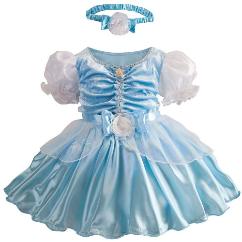 2t Cinderella Costume (Disney Store Deluxe Cinderella Costume for Baby Toddler 2T 2 Years)