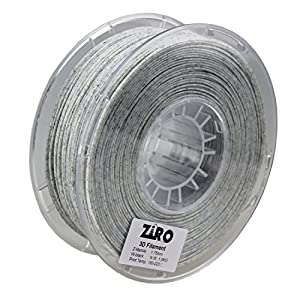 ZIRO 3D Printer Filament PLA 1.75mm Marble Color 1KG(2.2lbs) - White by ZIRO