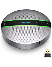 Kaysuda SP300 Bluetooth Speakerphone 360º Voice Pickup 6 AI Echo & Noise Canceling Microphones, 18H Call Time, Bluetooth 5.0/USB C/Dongle Compatible with Leading Platforms, Home Office