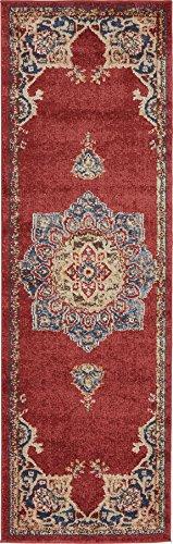Traditional Persian Rugs Vintage Design Inspired Overdyed Fancy Terracotta 2' x 6' FT (61cm x 185cm) Runner St. James Area Rug Antique Persian Runner