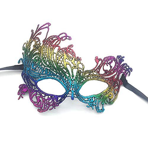 iMapo Masquerade Masks, Women Girl Lace Eye Mask, Opera Halloween Dancing Evening Party Elegant Mardi Gras Lady Eye Mask - -