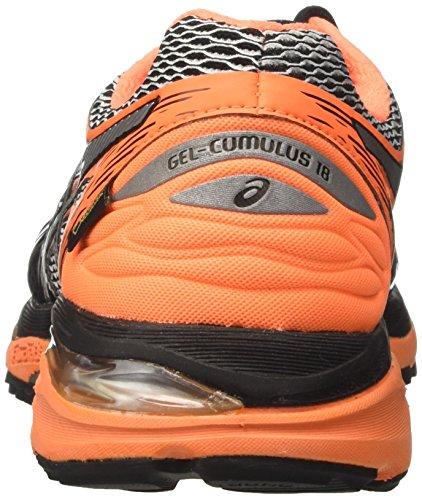 Asics silver Scarpe cumulus Da 18 hot Corsa Orange Nero black G Uomo Gel tx nanPUqr6Z