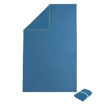 130x 80cm absorbant serviette de plage Sac de sport Serviettes de bain–Bleu foncé