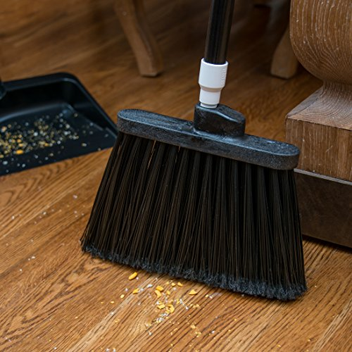 Carlisle 3686703 Duo-Sweep Medium Duty Flagged Angle Broom Head, Polypropylene Bristle, 8'' Overall Length x 12'' Width, Black (Case of 12) by Carlisle (Image #5)