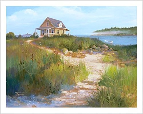 (Buyartforless Island Retreat by Jacqueline Penney 28x22 Art Print Poster Coastal Beach Dunes Cottage Seaside )