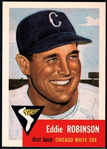 (Baseball MLB 1991 Topps Archives 1953#73 Eddie Robinson White Sox)