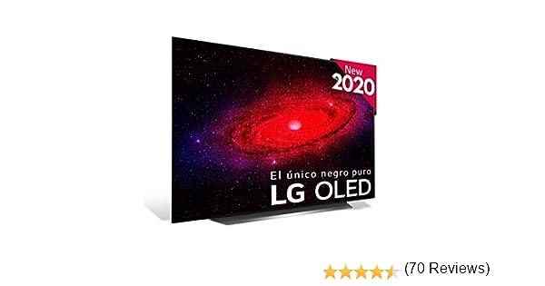"LG OLED55CX-ALEXA - Smart TV 4K OLED 139 cm (55"") con Inteligencia Artificial, Procesador Inteligente α9 Gen3, Deep Learning, 100% HDR, Dolby Vision/ATMOS, HDMI 2.1"