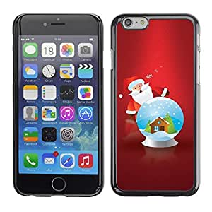 YOYO Slim PC / Aluminium Case Cover Armor Shell Portection //Christmas Holiday Snow Ball Santa Claus 1057 //Apple Iphone 6