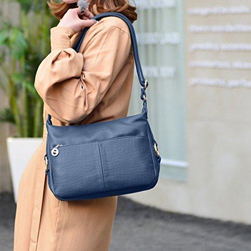 PU main d'épaule Bleu Sac Sac NICOLE Messenger bandoulière Femmes amp;DORIS Mode Sacs à Bleu Sac xq4X7