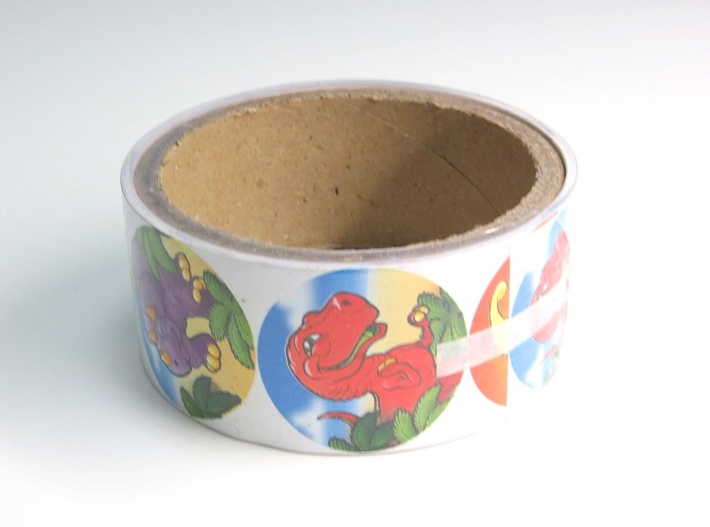 100 Stickers Per Roll Edison Novelty Dinosaur Sticker Roll