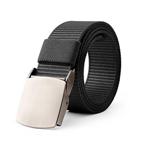 JasGood Nylon Web Duty Men Belt Outdoor Sports Design Tactical Waistband With (Design Belt Buckle)