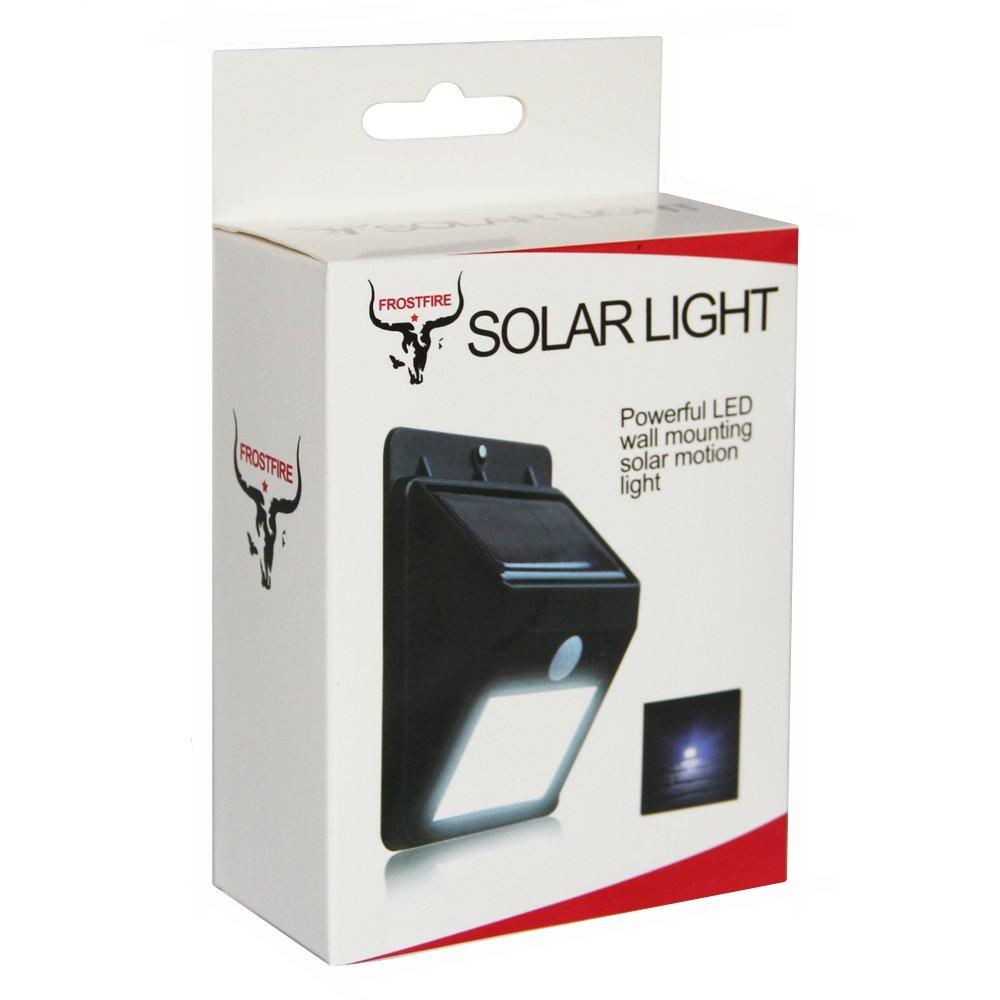 Pannello Solare Per Luce Garage : Lampada solare luce led con sensore di movimento