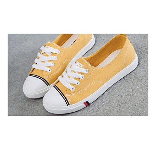 colores de los zapatos Pink de o baja planos calza respirables los La zapatos opcionales Tama se al aire libre Color de respirable los de ora boca la 5 lona zapatos Amarillo 36 pHxqIvS
