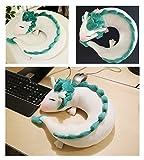 IXI Dragon Plush Doll Toy Pillow - Anime Cute White Dragon Neck U-Shape Pillow Lovely Dragon Stuffed Toy Soft and Huggable Plush Perfect Chrismas Birthday Gift Home Decoration