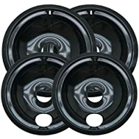Kitchen Basics 101: 2 of WB31M20 and 2 of WB31M19 Range Cooktop Porcelain Drip Pan Bowls Replacement for GE 4 Piece Set
