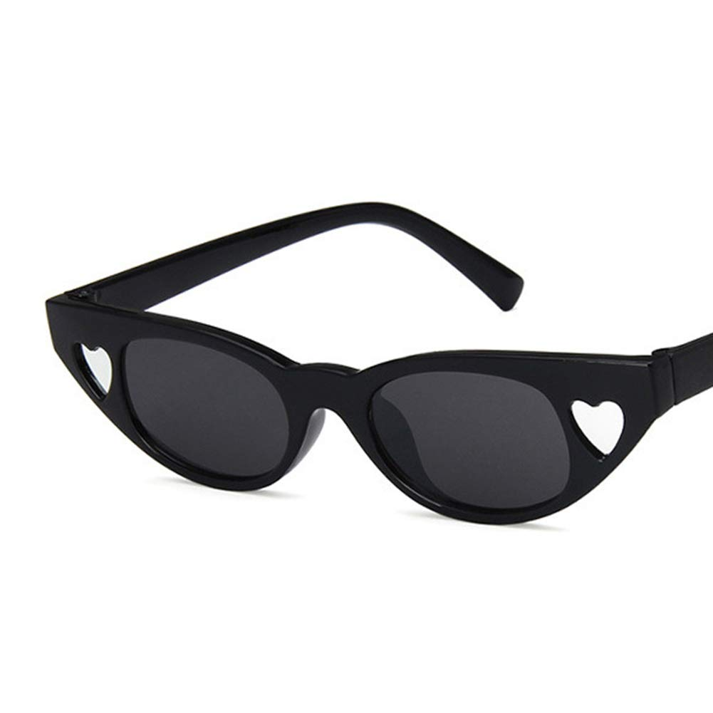 Unisex Sunglasses Retro Bright Black Rose Red Drive Holiday Oval Non-Polarized UV400