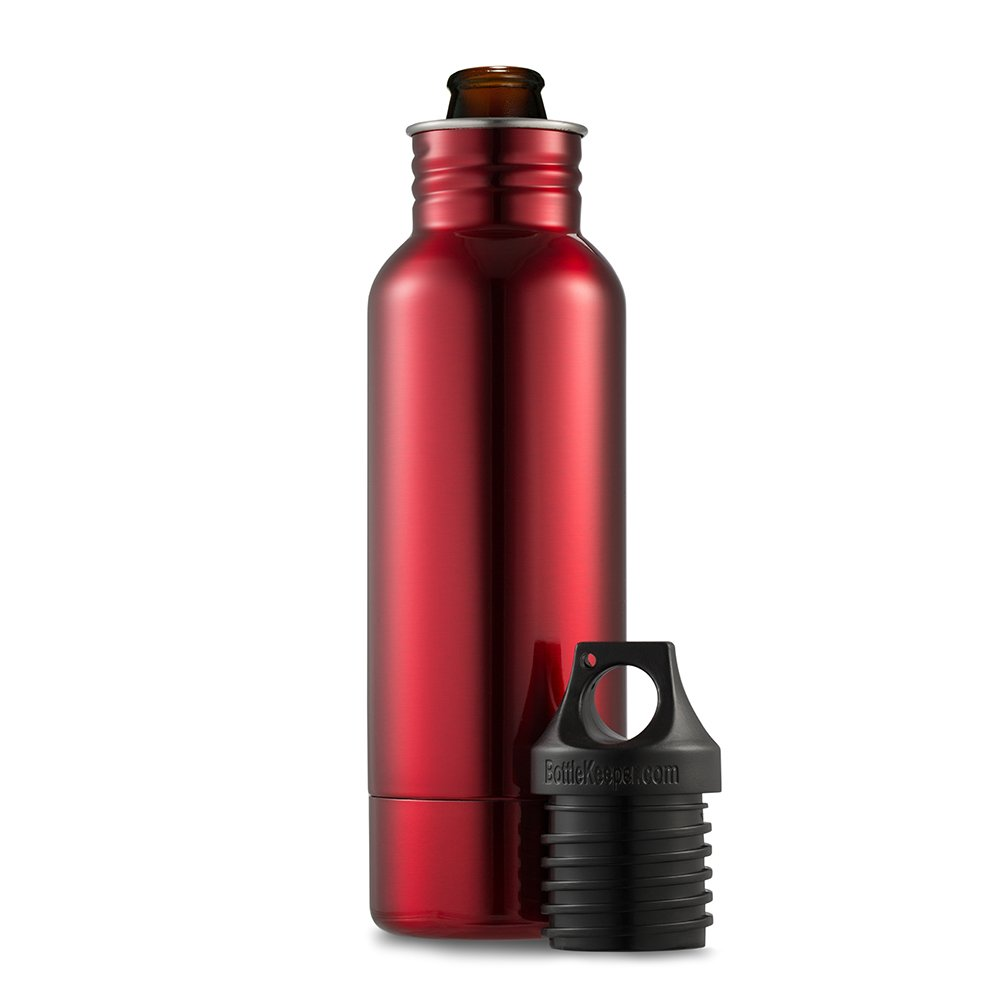 The Original Stainless Steel Beer Bottle Holder and Insulator to Keep Your Beer Colder BottleKeeper