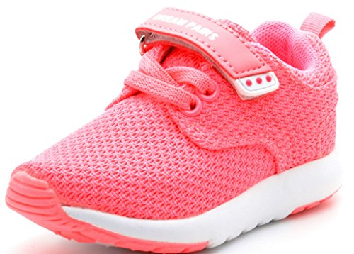 Dream Pairs Little Kid 5003-K Pink White Athletic Running Shoes Sneakers - 11 M US Little Kid