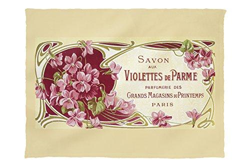 Lantern Press Violettes De Parme Perfume Label 2310 (60x80 Poly Fleece Thick Plush Blanket) ()