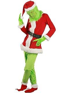 Amazon.com: Disfraz de Papá Noel con máscara de Unizero para ...
