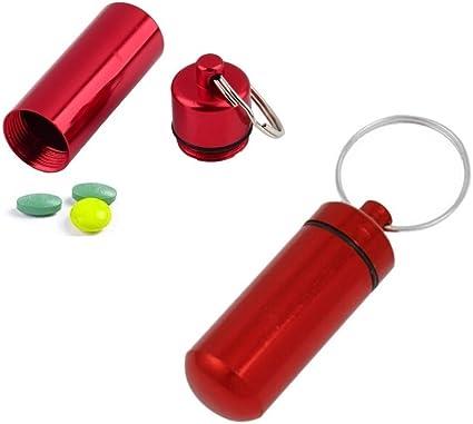 Pocket Aluminum Airtight Tobacco Stash Can Storage Pill Box Case Key Ring Chain
