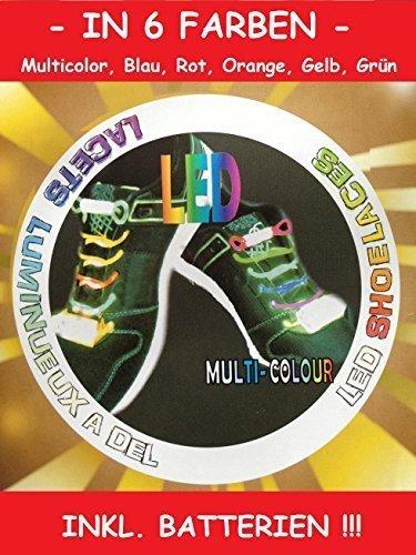 LED Schnürsenkel Leucht Schnürsenkel Fasching Schuhband Party Disco 6 Farben Gelb