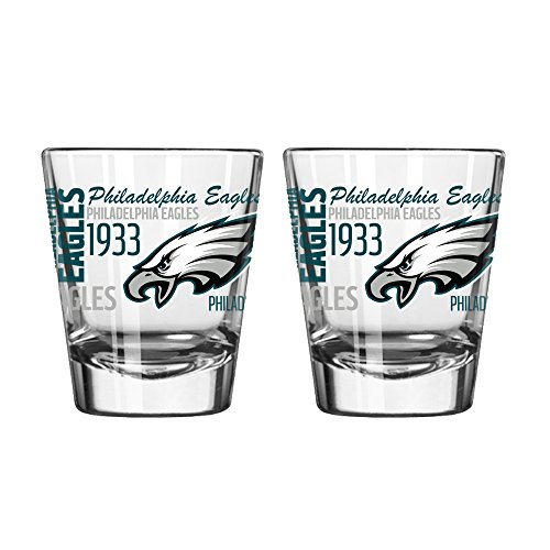 Boelter Brands NFL Philadelphia Eagles Spirit Shot Glass, 2-Ounce, 2-Pack (Oz Shot Glass 2 Nfl)