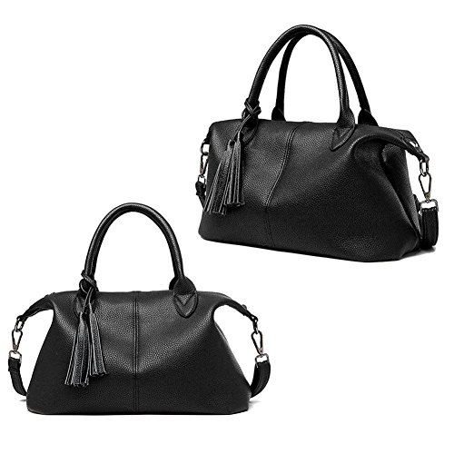 Crossbody La épaule Noir Gland Pack Grand Femmes Bag Loisirs à Sacs PU Filles pour Sac Bandoulière à Main Cabina Tote Sacs Porté Main UfU1Bx