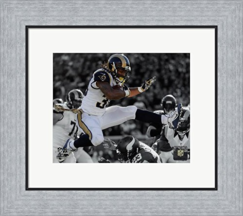 Todd Gurley 2015 Spotlight Action Framed Art Print Wall Picture, Flat Silver Frame