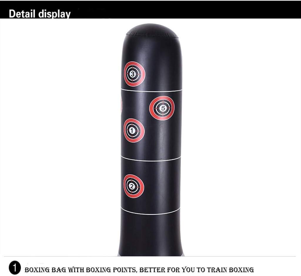 Amazon.com: Columna de boxeo inflable vertical, saco de ...