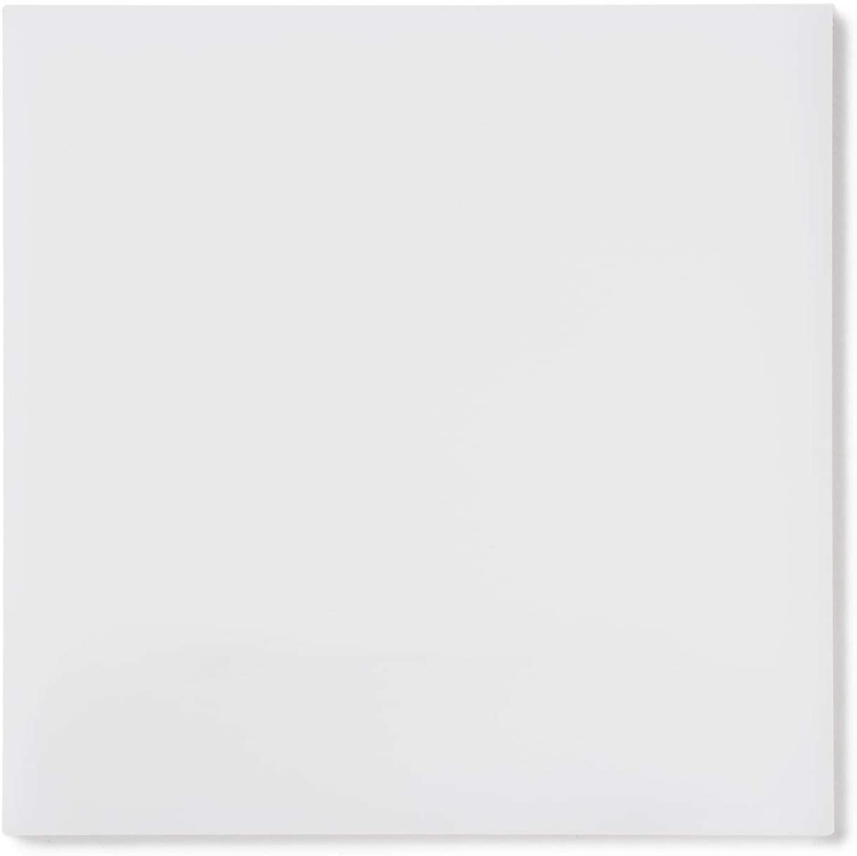 "Rock Hard Plastics - 12"" x 12"" White Acrylic Sheet Lucite Plexiglass - (Actual Size 11.875"" x 11.875"" - .118"" (1/8"")"
