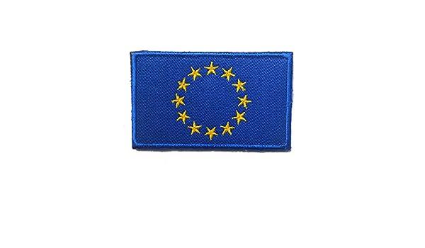 dise/ño de bandera de la Uni/ón Europea Parche bordado para coser o planchar