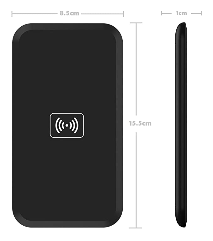 BlueBeach® Qi Cargador Inalámbrico Ultra Delgada de Carga Pad para Samsung S8 / S8+ / Note 8 / Nokia 8 / Apple iPhone 8 / 8 Plus / iPhone X Todo Qi y Otros ...