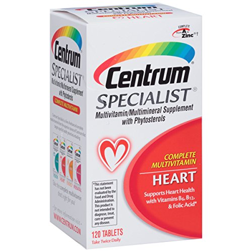 (Centrum Specialist Heart (120 Count) Complete Multivitamin / Multimineral Supplement with Phytosterols Tablet, Vitamin D3 and Vitamin B)