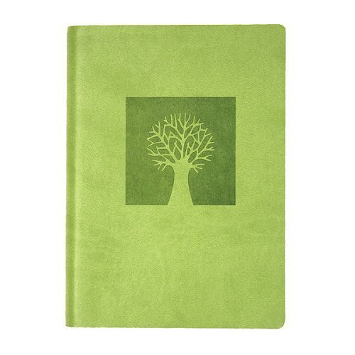 """Eccolo World Traveler Essential Collection Journal, 5 x 7"""", Green - Tree of Life (D303C)"""