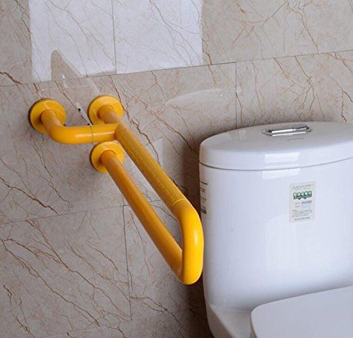MDRW-Safety Handrail Disabled Nylon Pull Rod Bathroom Wash Basin Armrest 600Mmyellow