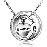 starton No longer By My Side Forever In My Heart Memorial Keepsake Locket Ashes Urn Necklace For Mom&Dad&Grandpa&Grandma&Uncle&Aunt Cremation jewelry (brother)