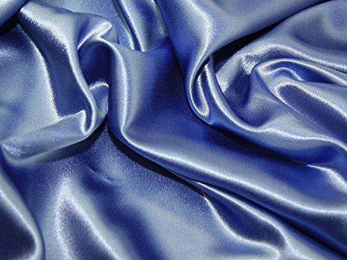 (Satin Backed Crepe Bridal Fabric Hyacinth - per metre)