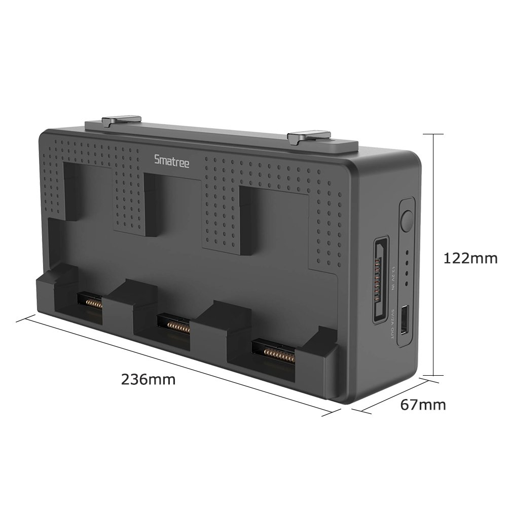 Smatree Portable Charging Station Compatiable for DJI Mavic Air Battery, 158Wh Rechargeable Power Bank Batteries Charger(Charge 3 Mavic Air Batteries Simultaneous and up to 5-8 Mavic Air Batteries by Smatree (Image #5)