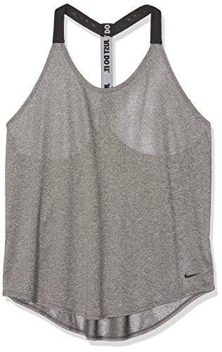 Tank Heather Da canotta grigio Scuro Grigio Nike Solid Donna Elastika 8HgwE