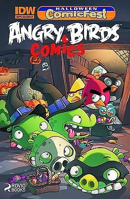 IDW COMICS ANGRY BIRDS COMICS HALLOWEEN COMICFEST MINI VARIANT]()